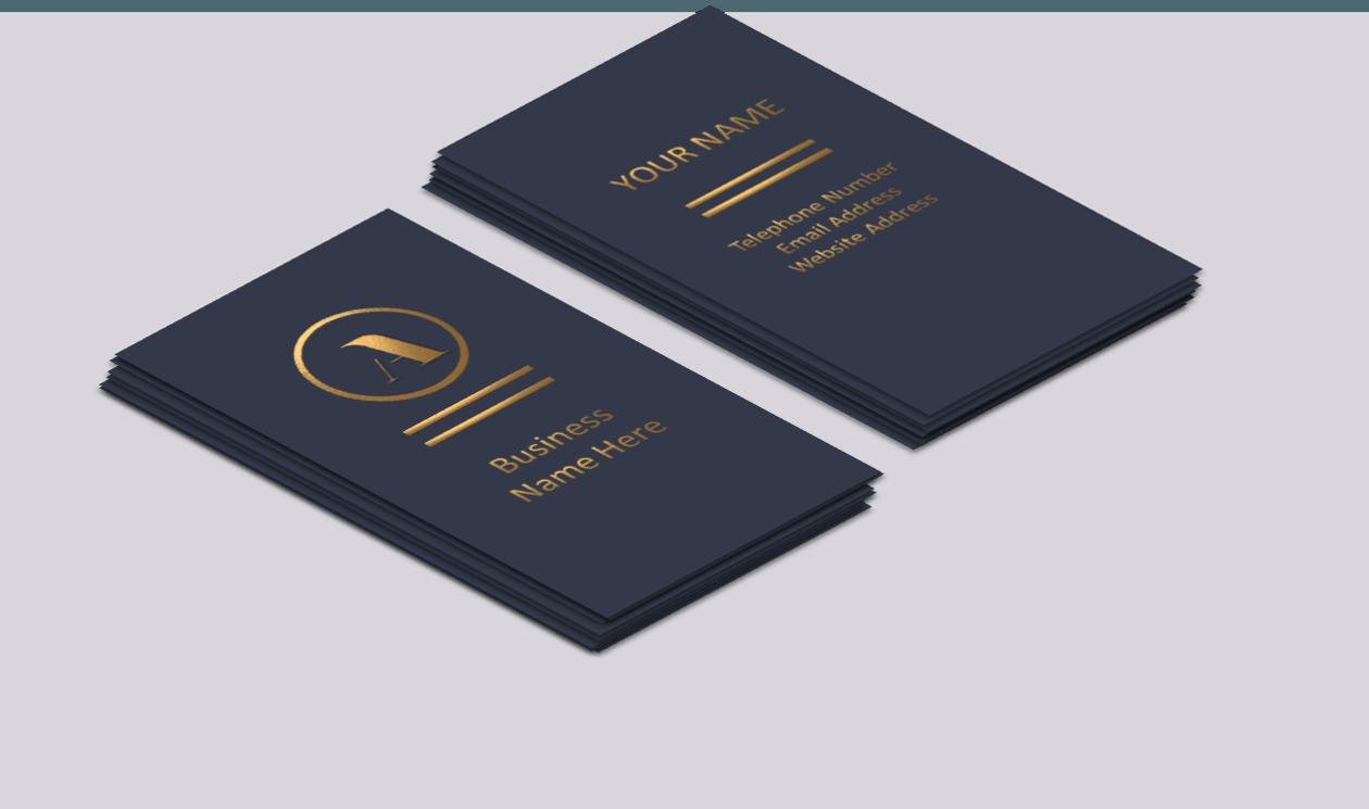 Gold Foil Businees Cards