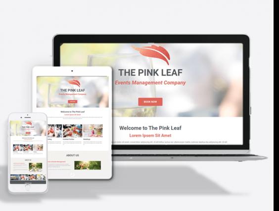 Events Company Website Theme
