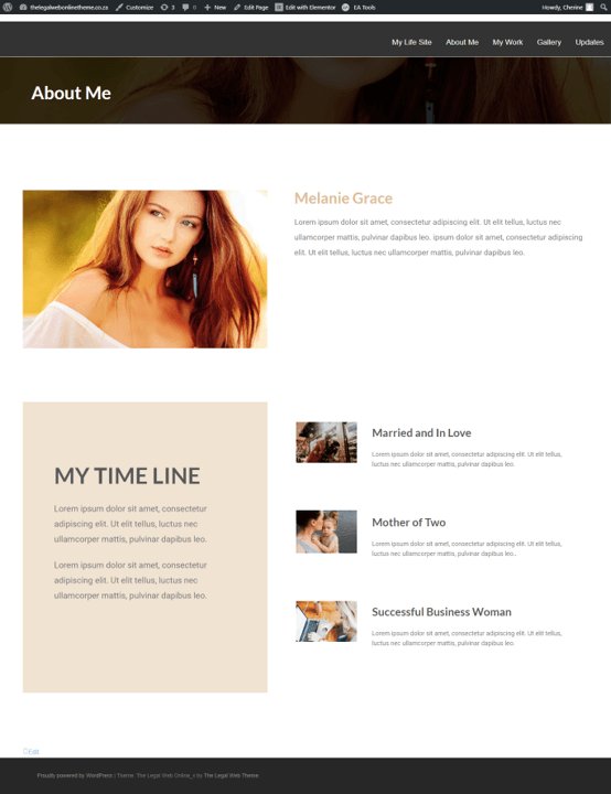 Life Site Theme - Page 2 -About