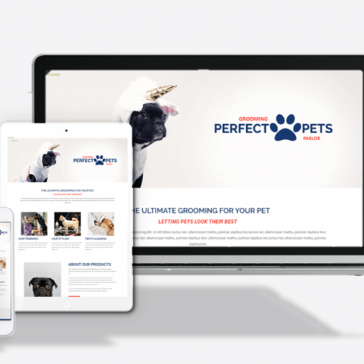 Pet Parlor Website Theme