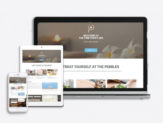 Spa Website Theme
