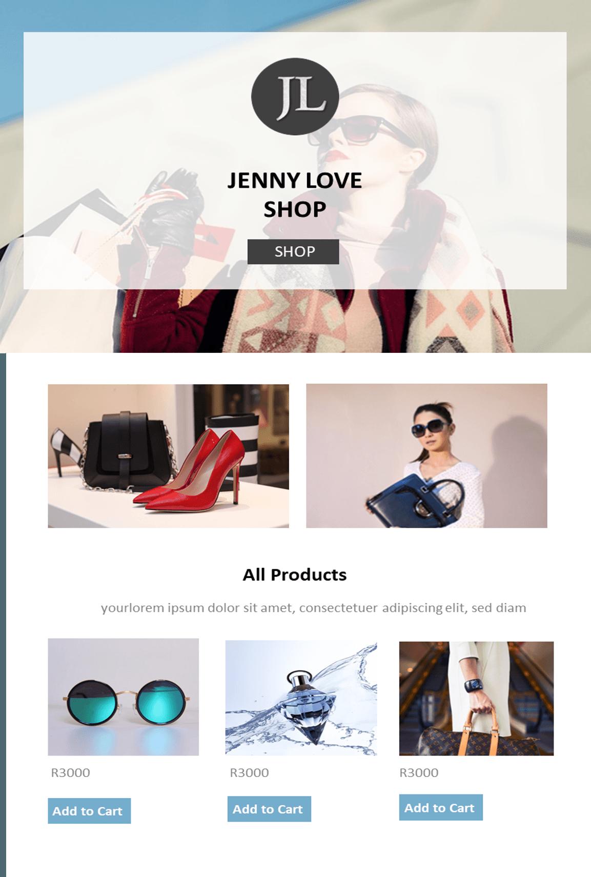 Online Shop Website Theme