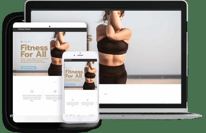 fitness website theme