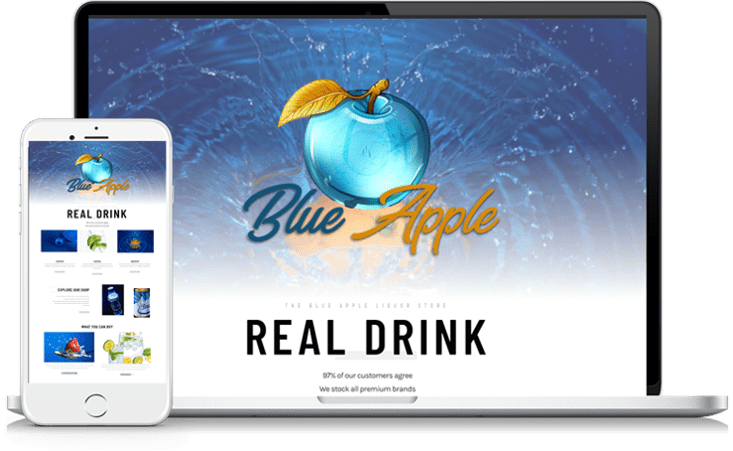 liquor store website design
