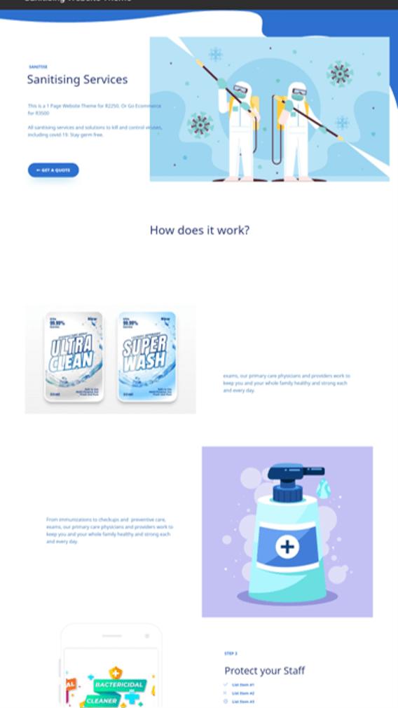 Sanitising Website DEsign