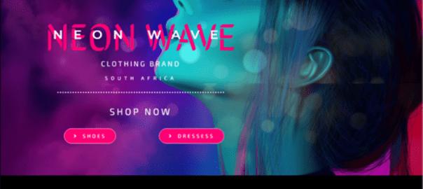 Neon Website Design