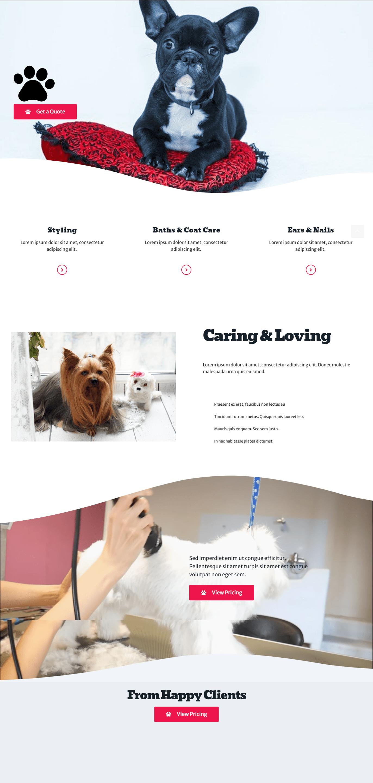 Pet Grooming Website Design